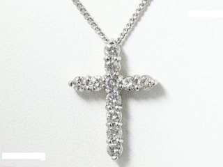 🎉十字架钻石pt850/pt900铂金项链