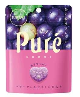 Pure夾心軟糖葡萄味 56G