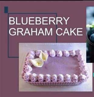 Refrigerated Graham Cake (Blueberry)