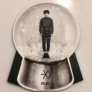 Xiumin EXO Miracles in December 小卡