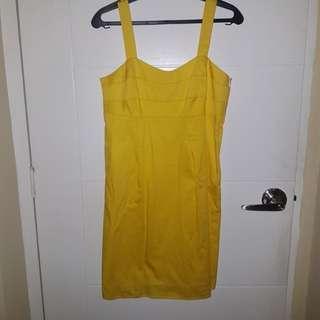 Yello Shift Dress