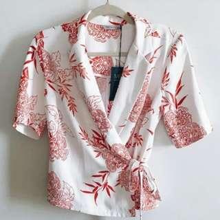 Marks & Spencer UK18 wrap blouse