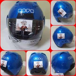 1203***NOVA Blue Helmet For Sale 😁😁Thanks To All My Buyer Support 🐇🐇 Yamaha, Honda, Suzuki
