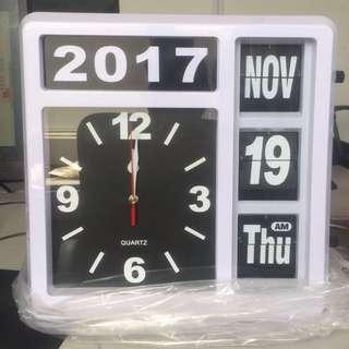 文青懷舊復古自動翻頁日歷連鐘 flip clock