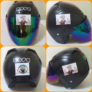1203***NOVA Matt BLACK  Helmet For Sale 😁😁Thanks To All My Buyer Support 🐇🐇 Yamaha, Honda, Suzuki