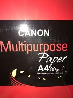 Canon A4 white paper