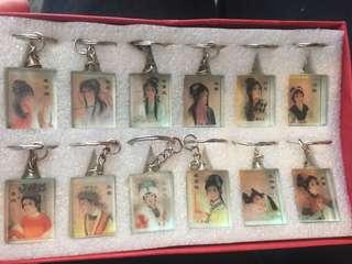 十大美人水晶匙扣