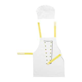 [IKEA] TOPPKLOCKA Children's Apron with Chef's Hat / White & Yellow