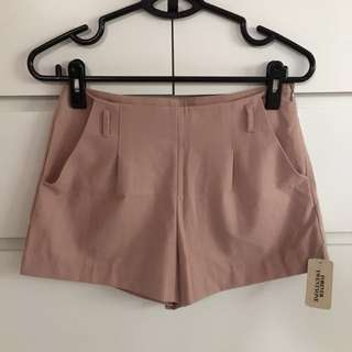 Forever 21 F21 High Waist Tailored Shorts