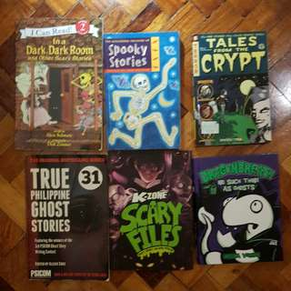 "6 ASSORTED ""SCARY"" KIDS BOOKS"