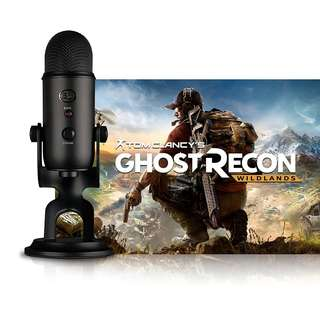 <New Arrival> Blue Yeti USB Microphone BLACKOUT + Tom Clancy's Ghost Recon Wildlands PC Game Code Bundle