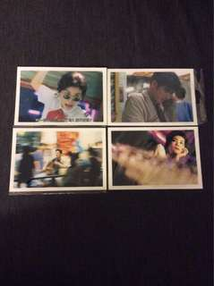 BN Chungking Express post cards postcards Wong Kar Wai x4pcs
