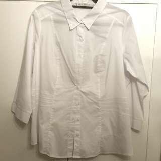 Marks & Spencer UK18 white blouse