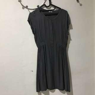 FREE ONGKIR Mini Dress abu-abu
