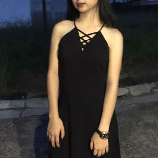 H&M Black Casual Dress