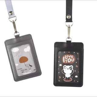 PU Card Holder with Strap