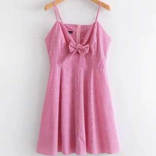 🔥Slim european strapless bow decorative dress girl