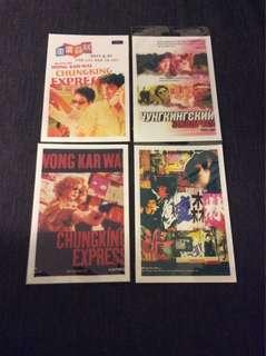 BN Chung King Express postcards post cards Wong Kar Wai X 4pcs