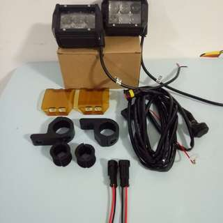 Motorcycle foglight set(spot light) 18w 6led yamaha ,honda,suzuki,ktm,bmw,kawasaki,harley,
