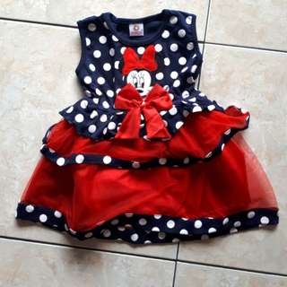 Dress polka minie