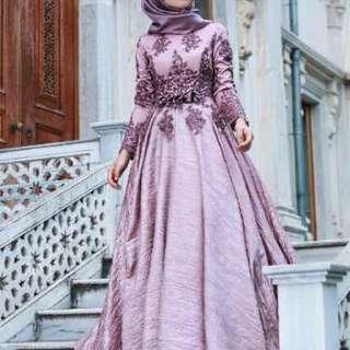 Arabiah gamis fashion muslim wanita 5 warna