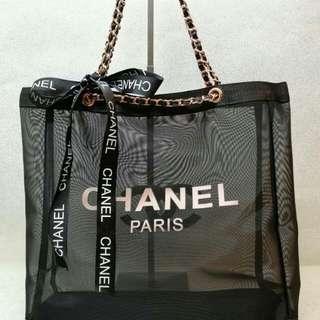 Chanel Rose Gold Net Tote Bag
