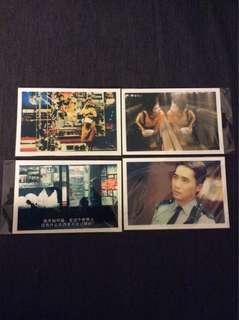 BN Chungking Express postcards post cards Wong Kar Wai X 4pcs