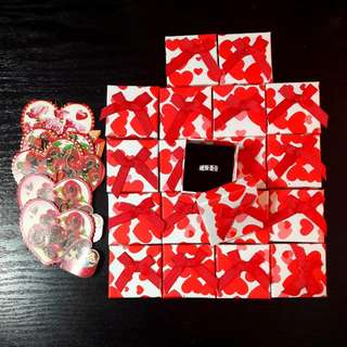 Instock ring box and gift card