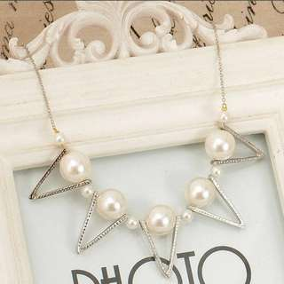 Pearls & Shapes Stylish Necklace