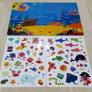 Buku stiker BABY SHARK made in Korea