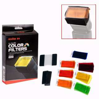 Universal Speedlite Color Gel Filter Kit For Canon Nikon Pentax Godox YONGNUO Flash