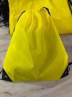 Kids birthday party gift bag- drawstring bag (yellow)