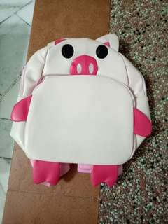 [Free shipping] Kids Backpack Pink Pig