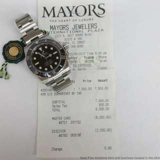 Want to buy rolex sports with original receipt