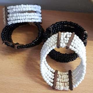 Beaded wristband
