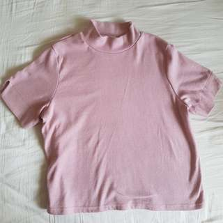 korean mock neck top free size