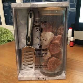 Luxurious Himalayan Gourmet Salt gift set (salt crystals + grater)
