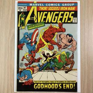 MARVEL COMICS The Avengers #97-Golden Age Timely characters appear (Serious Buyers Only)