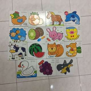 15pcs Hard Card Puzzles (good quality)