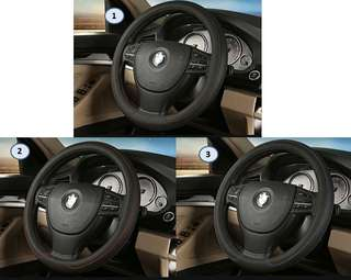 Leather series red blue black steering wheel cover 39cm