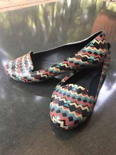 Melissa pattern flatshoes (only used once!!)