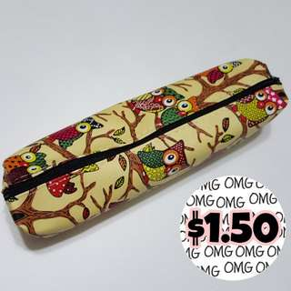 📮Free NORMAL postage 💯Brand New with Plastic Cover Owl Pencil Case