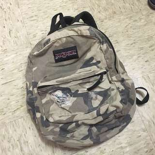 Jansport Camo/Army Print Backpack (FREE SHIPPING)