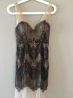 Sheer and lace maxi dress