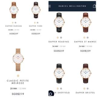 100% AUTHENTIC Dw daniel wellington watch