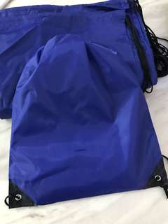 Dark blue drawstring bag - practical goodie bag 👍