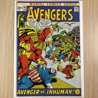 MARVEL COMICS The Avengers #95-Origin of Black Bolt & Maximus (Serious Buyers Only)