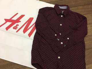 H&M long sleeves polo (3-4y)