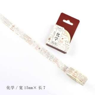 Washi Tape (Chemistry) (Ref No.: 102)