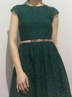 HnM green dress
